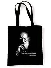 ANIMALS ARE MY FRIENDS SHOULDER BAG - George Bernard Shaw Quote Vegetarian Vegan