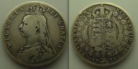 Collectable Silver 1889 - Queen Victoria - Jubilee Half Crown Coin.