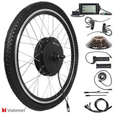 1500W 48V w/ LCD Rear Wheel Electric Bicycle Motor Conversion Kit E Bike Cycling