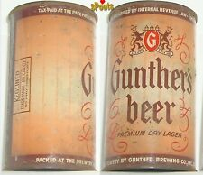 1948 IRTP GUNTHER'S PREMIUM DRY LAGER BEER CAN BALTIMORE,MARYLAND FLAT TOP MD.VA