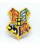 Harry Potter Hogwarts Yellow Embroidered Iron Sew on Patch lv1172