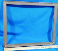 Antique Picture Frame Primitive Solid Wood Photo Painting Mirror VTG 17x14,