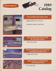 Used Wiltron catalog 1989