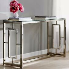 Entryway Table Console Glass Metal Modern Hallway Furniture Sofa Furniture New