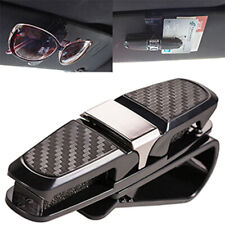 Car Auto Sun Visor Glasses Sunglasses Card Ticket Holder Clip Silver Universal S
