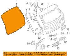 BMW OEM 11-16 X3 Lift Gate-Weatherstrip Seal 51767301846