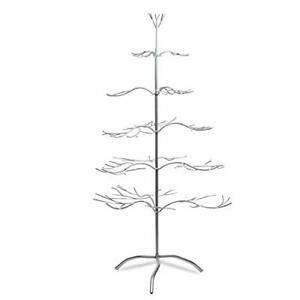 "Tripar Metal Ornament Display Tree and Jewelry Organizer – 36"" Silver"