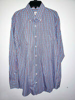 Mens Peter Millar Long Sleeve Plaid Button Up Colorful Shirt Size Medium M