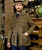 Vintage Classic Houndstooth Hunting Sport Blazer Mens Leisure Sport Outwear Coat