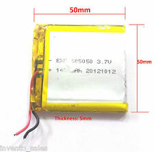 3.7V 1400 mAh Polymer Li-ion rechargeable battery For GPS iPod Tablet PC Drones
