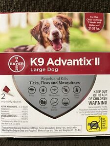 Bayer K9 Advantix II for Large Dog 21-55 lbs - 2 Doses