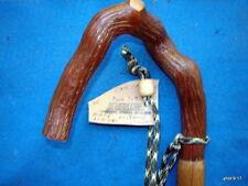 unique original tapered OAK/Mt.Laurel *pretzel handle*  walking-stick/cane