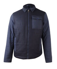 Tommy Hilfiger Mens Mixed-Media Colorblocked Bomber...