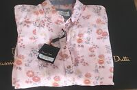 NWT MASSIMO DUTTI FLORAL SHIRT BLOUSE TOP PINK GINGHAM  RRP49.95€  MD47