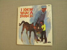I Know What A Farm Is 1969 Whitman Tell-a-Tales Book