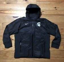 Nike Michigan State Spartans Team Issue On Field Jacket Coat Parka Size XL Black