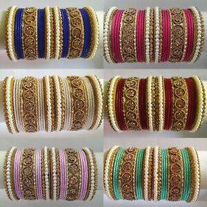 Indian Bangles/Churi Set Wedding Bollywood Women Bracelets Express Shipping