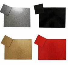 SPARKLE GLITTER FAUX LEATHER  BLACK,RED,GOLD & SILVER PLACEMENT & COASTERS 8,6 4