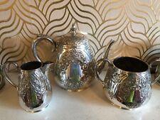Stunning Antique Martin Hall & Co Silverplated Tea Set