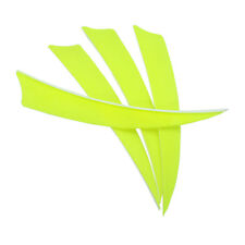 "Archery Fletches 5"" Shield Cut Fluorescent yellow Traditional Feather RW - 50PCS"