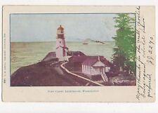 Fort Canby Lighthouse Washington USA Vintage Postcard 351a ^