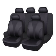 car seat covers set polyster hot stamp fabric seat protectors black washable