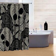 Beautiful Skull Design Shower Curtain Bathroom Decor