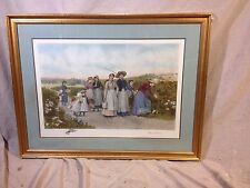Etching Antique Jennie Brownscombe,etched By Jas S King.C12pics 4size&MAKE OFFER