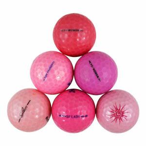 120 Premium Pink Near Mint Quality Used Golf Balls AAAA *SALE!*