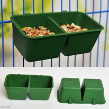 1x Pigeon Parrot Feeder Crib Trough Poultry Feed Drinker Hanging Cage Birds Sink