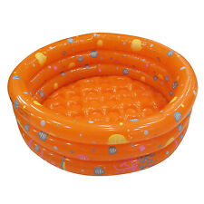 80cm Inflatable Swimming Pool Ball Pit For Baby Kids Outdoor Indoor Party Orange