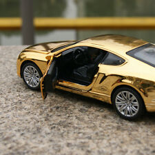 Bentley GT W12 Gold plating Model Cars 1:32 Sound&Light Alloy Diecast Xmas gift