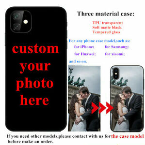 Custom Personalize Photo phone case For iPhone 13 12 11 pro max  SE Xs XR 7 Plus