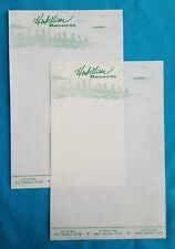 Vintage Pair of Hawaiian Hukilau Resorts Stationery - Hilo Bay, Kailua Bay