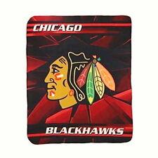 CHICAGO BLACKHAWKS BLANKET FLEECE THROW BROKEN ICE SERIES NHL NEW NWT