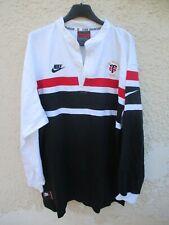 Maillot rugby STADE TOULOUSAIN 1997 NIKE shirt extérieur away vintage coton XL