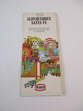 Stamped 1973 Texaco Alburquerque Santa Fe City Street Gas Station Road Maps~BoxF