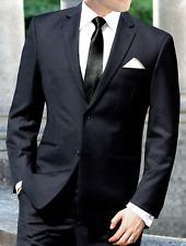 Men's Black Perry Ellis Suit with Pants Semi-Formal Wedding Church Job Interview