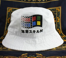 Windows Japanese Bucket Hat vaporwave cloud rap 6 panel NEW