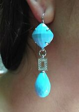 turquoise earrings italian silver jewelery made in italy