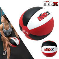 MADX Medicine Ball 5kg 8kg 10kg Heavy Duty Rex Leather  Fitness Gym Exercise
