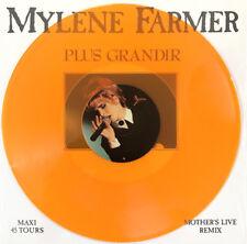 """Mylène Farmer 12"""" Plus Grandir (Live) - Tirage Limité, Vinyle Orange"""
