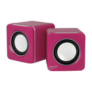 ARCTIC S111 M (Pink) - Mobiles Mini-Soundsystem Mini Speaker Smartphone Tablet