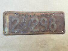 1935 TEXAS COMMERCIAL LICENSE PLATE PICKUP TRUCK ORIGINAL 35 HOT RAT STREET ROD