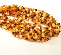 Lot 10 Wholesale Natural Baltic amber baby baroque multicolor necklace c-4466-2