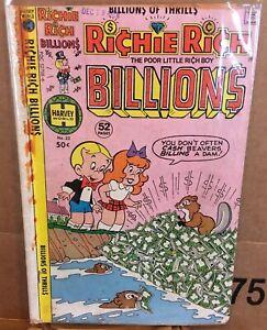 Harvey Comics, Richie Rich Billions #22, 1978, GD+