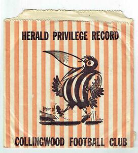 "COLLINGWOOD FOOTBALL CLUB, HERALD PRIVILEGE RECORD, 7"", GC. VERY RARE."