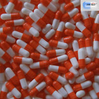 DR T&T 100 capsules de gélatine vide, orange blanc pour taille 0