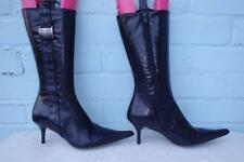 ~ BERTIE LEATHER BOOTS ~ Ladies Size 3 36  ~SEXY BLACK LEATHER BOOTS