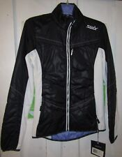 NEW SWIX WOMENS MENALI QUILTED JACKET LARGE BLACK